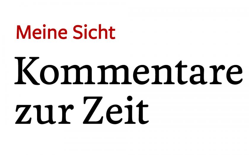 Michael Rutz – Kommentare zur Zeit